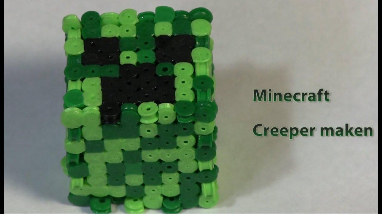 Zo Maak Je Een Minecraft Creeper Van Strijkparels Youtube