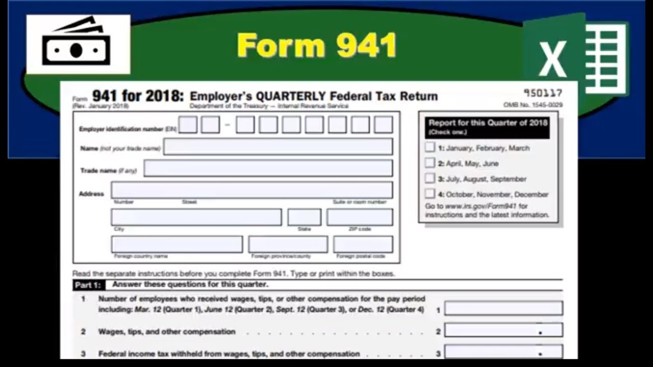 federal form 941  Form 15 - Quarterly Payroll Tax Form - How Fill Out