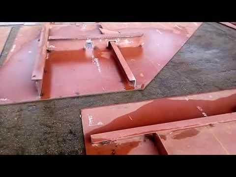 Ship- block hull fabrication sub assembly to block