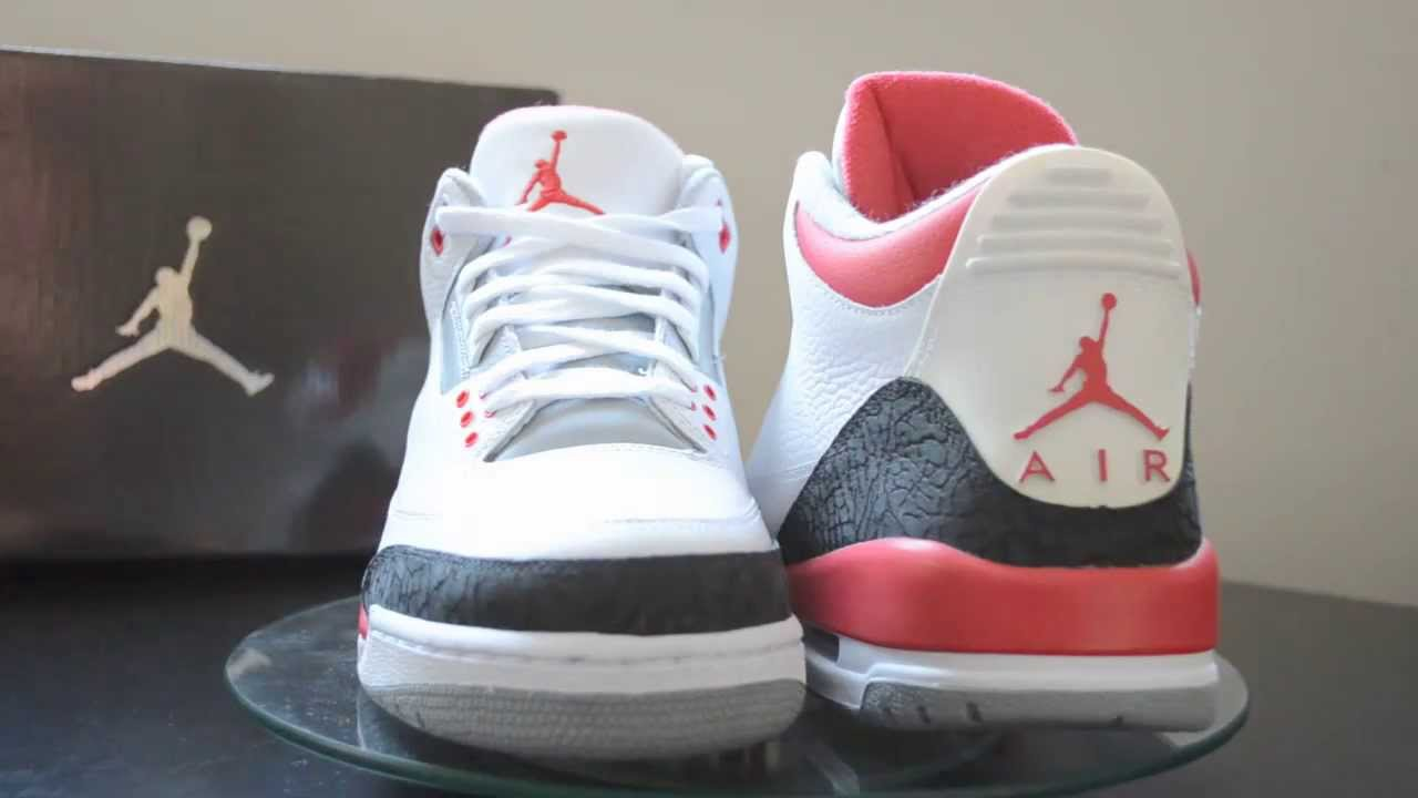 buy online e80de 7a594 Air Jordan III (3) Fire Red 2007 Retro Review - YouTube
