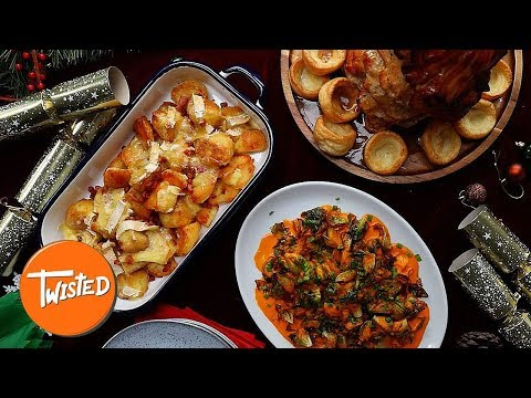 How To Make A Twisted Christmas Dinner | Christmas Recipes | Twisted