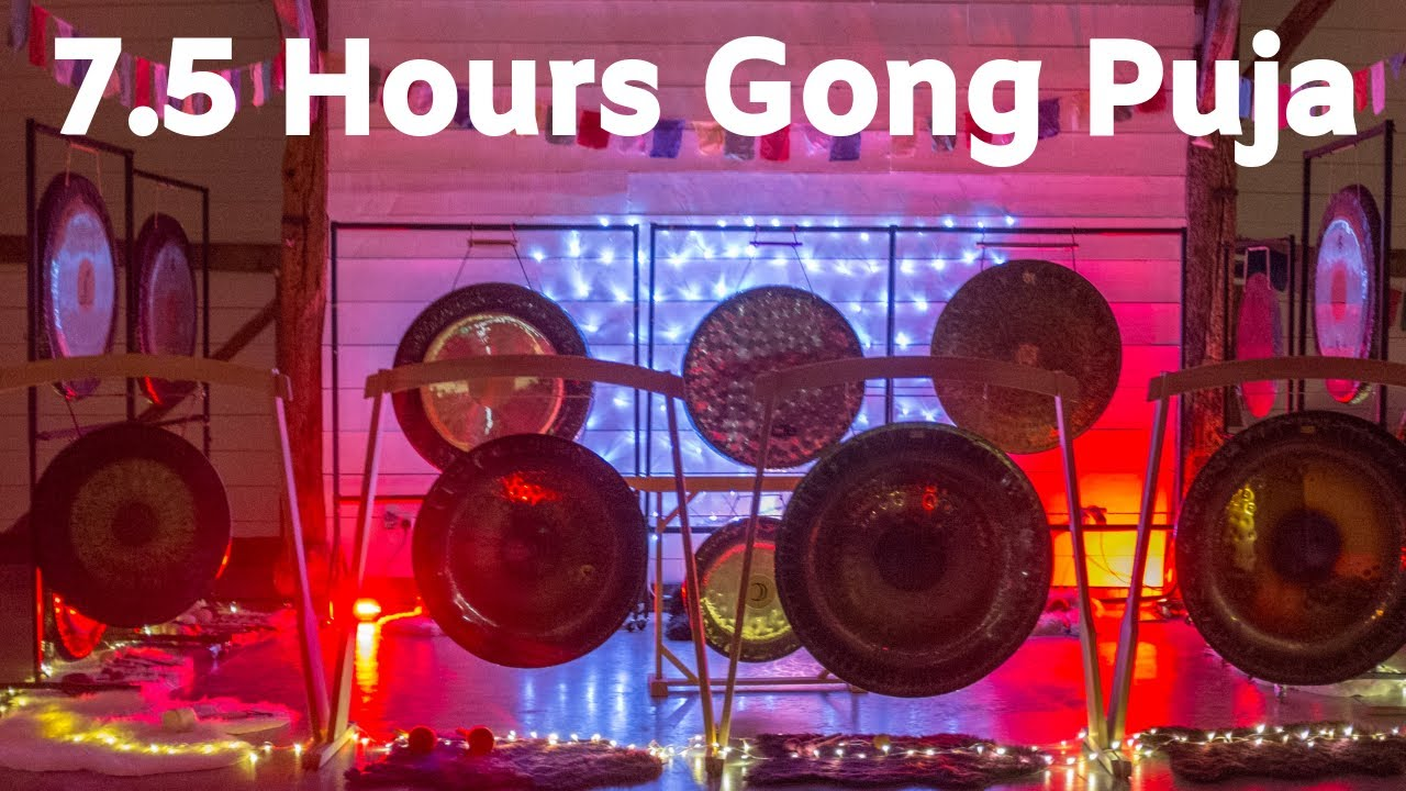 7.5 hours Gong Puja no 1 - gong bath, sound bath meditatiion for sleep, relaxation. 睡眠音樂 ,dormir.