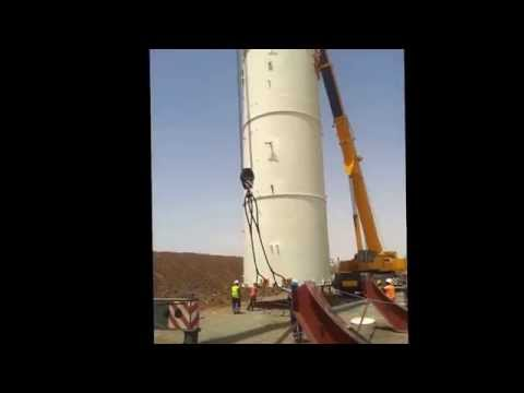 Lifting big tank in tasiast kinross Mauritania