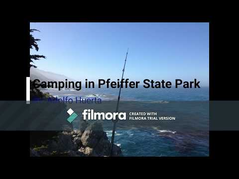 Fishing After Camping in Pfeiffer Big Sur State Park, California (HD)