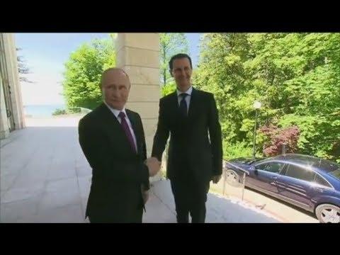Russland: Kurz vor Angela Merkels Besuch trifft sich Putin mit Assad