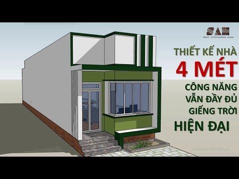 Đẳng cấp 4 MÉT, thiết kế nhà cấp 4 - 4x25M hiện đại giá rẻ cực đẹp  #SAH