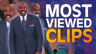 TOP 10 MOST-VIEWED MOMËNTS EVER! | Family Feud