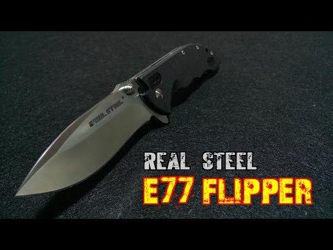 Обзор ножа Real Steel E77 Flipper. Настоящий EDC, хороший флиппер.