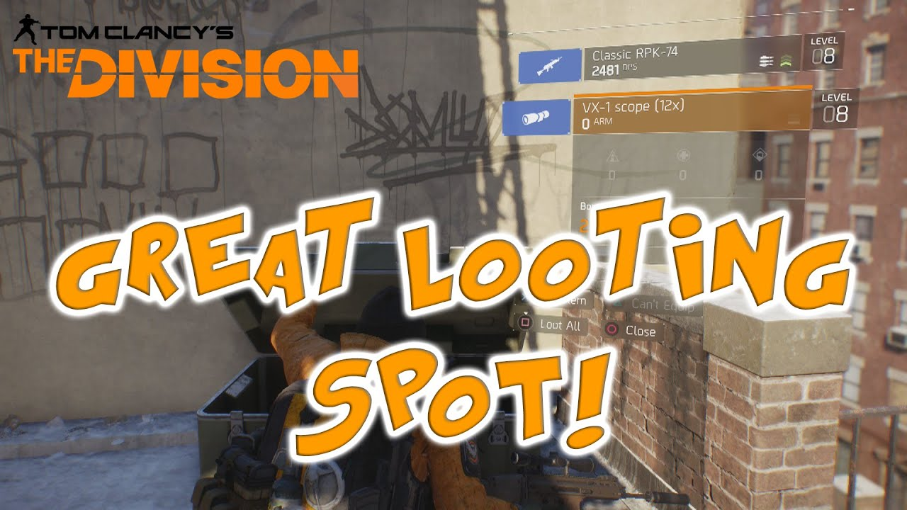 Best Place To Find Clothes Earance Gear Great Loot Spot In The Division You