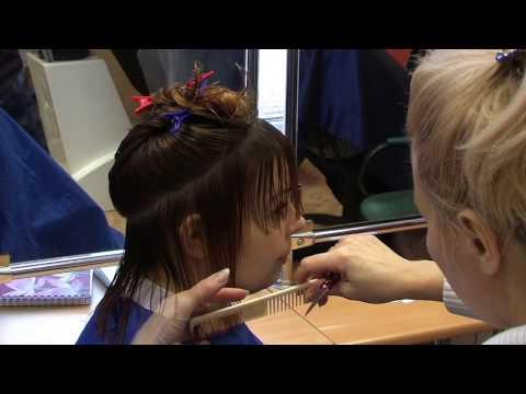 Объемная стрижка на длинных волосах Версаль