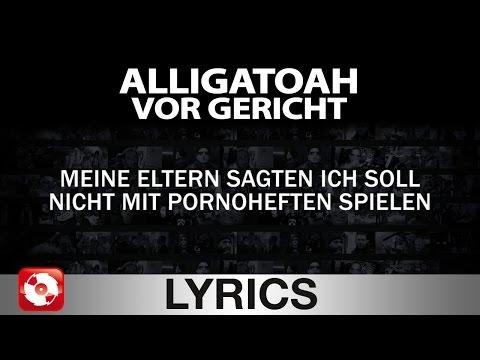 ALLIGATOAH - VOR GERICHT - AGGROTV LYRICS KARAOKE (OFFICIAL VERSION)
