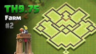 Clash of Clans ⚫ TH9.75 Farming Base #2 + Replays ⚫ No Inferno ⚫ *Bomb Tower Update*