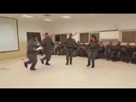 Israeli border Soldiers Dance to Kurdish Music