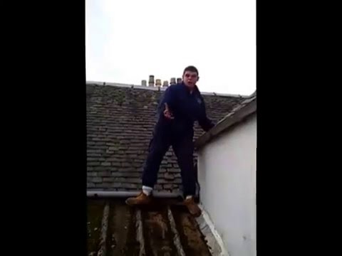 Workie gets Stuck on roof