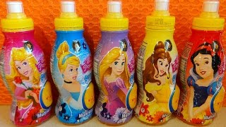 NEW 2016 Disney Princess 3D Figures in Surprise Drinks Juguetes Huevos Sorpresa