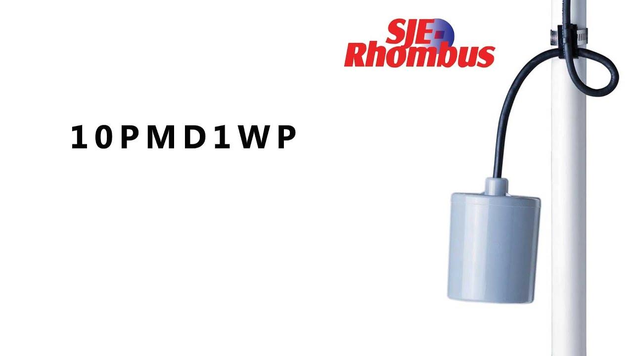 sje rhombus pumpmaster 10pmd1wp float switch [ 1280 x 720 Pixel ]