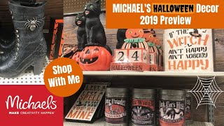 Michael's Halloween Decor 2019 Preview   Shop With Me