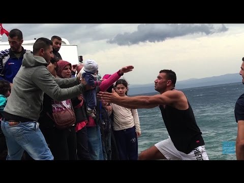 Desperate Journey: Shocking Video Shows Risks Refugee Families Take to Reach Europe Safely