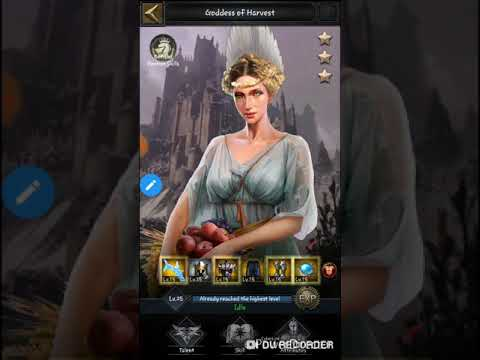 Clash Of King : Gather Stage KvK And Use Skill Hero Goddess Of Harvest Star3