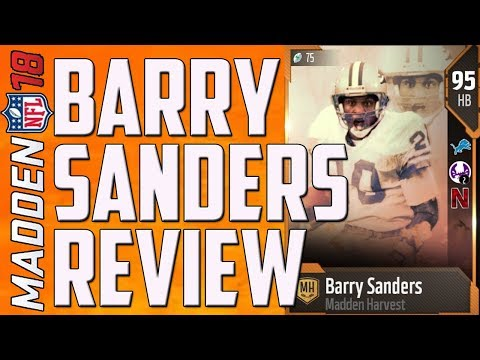 HOW GOOD IS 95 OVERALL BARRY SANDERS? MUT 18 CARD REVIEW