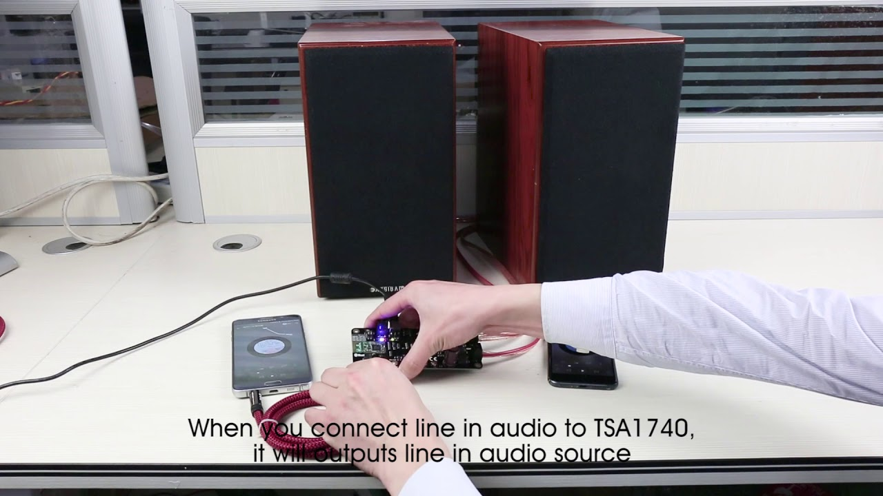 TSA1740 Bluetooth 5 mesh Audio Amplifier Board