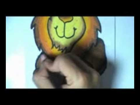 Menggambar Dan Mewarnai Si Singa Dengan Menggunakan Crayon Youtube