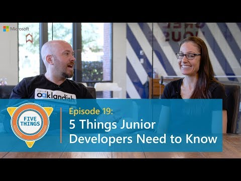 #FiveThings Junior Developers Need to Know