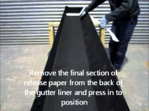 Self Adhesive Gutter Liner Youtube