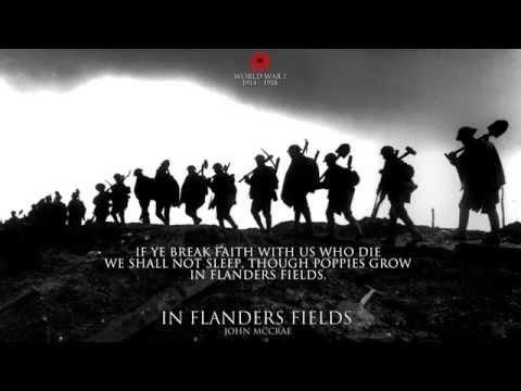 In Flanders Fields by John McCrae - World War I Poem
