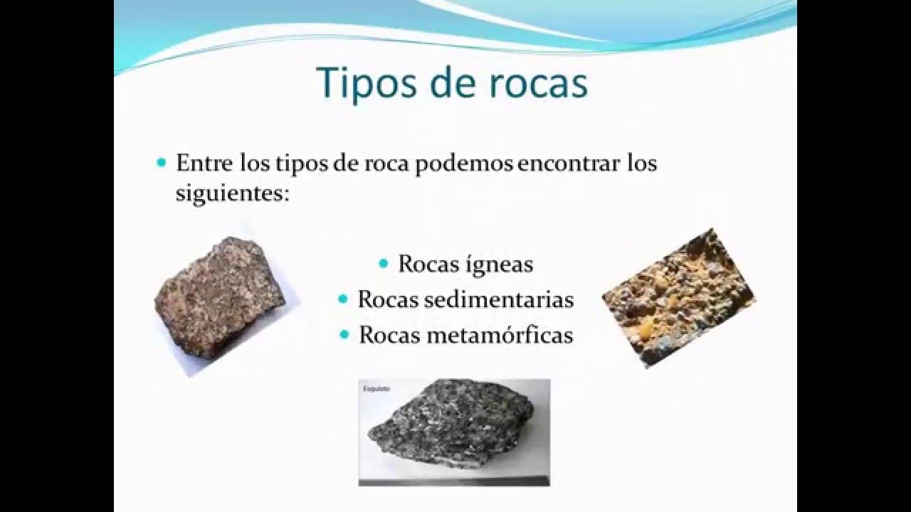 Tipos de rocas con nombres youtube tipos de rocas con for Tipos de terreno