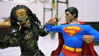 Superman Stop motion - Man of Steel VS Predator 超人與終極戰士