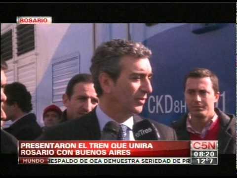 C5N - TRANSPORTE: PRESENTARON EL TREN QUE UNIRA ROSARIO CON BUENOS AIRES