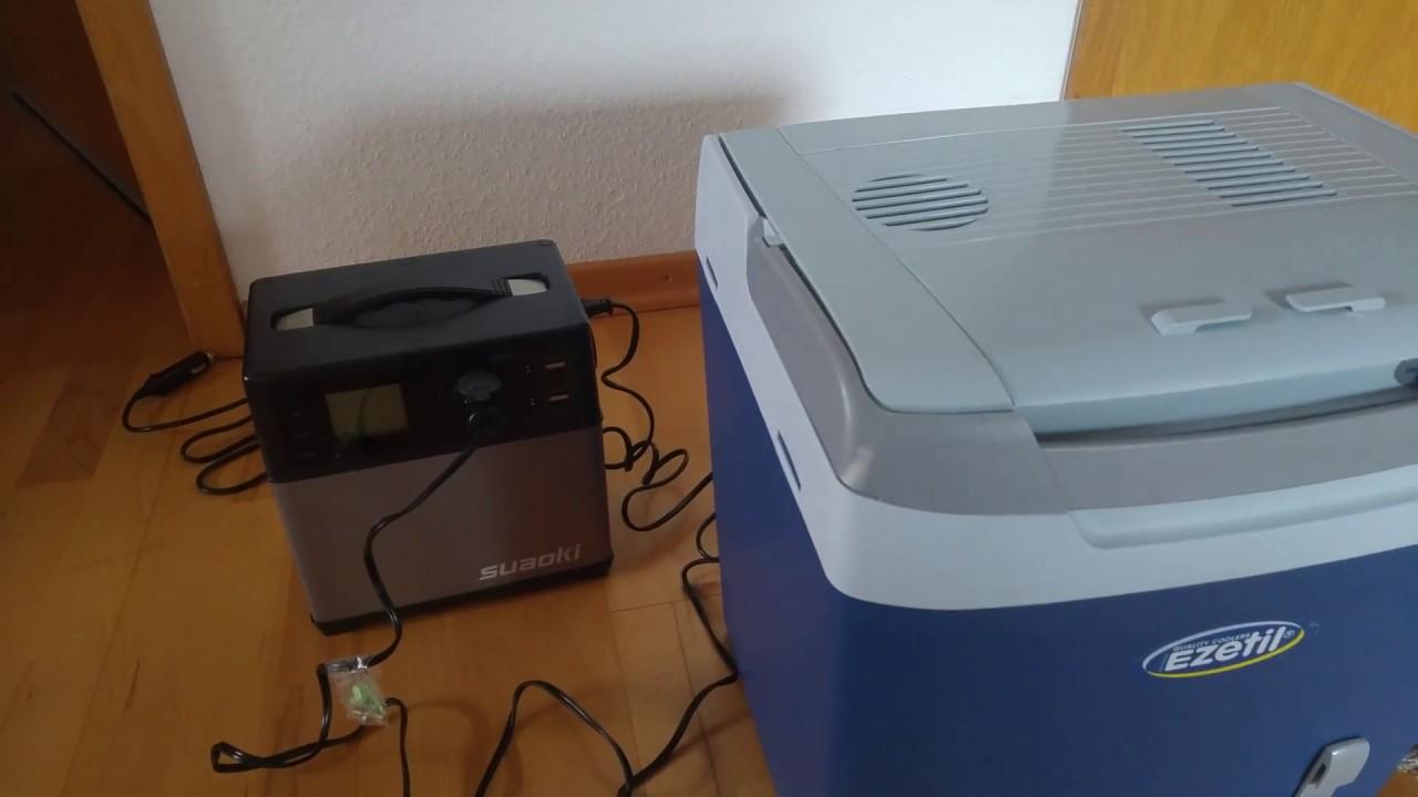 suaoki 400wh solar generator und k hlbox ezetil e26m 12v. Black Bedroom Furniture Sets. Home Design Ideas