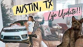 FIRST AUSTIN VLOG *SO MANY UPDATES* new kitty, new car, new house, furniture is in, etc