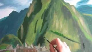 Pintura del Monumental Centro Arqueológico de Machupicchu