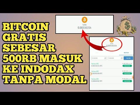 WITHDRAW BITCOIN GRATIS TANPA MODAL LANGSUNG MASUK KE INDODAX - Web Penghasil Bitcoin Gratis 2020