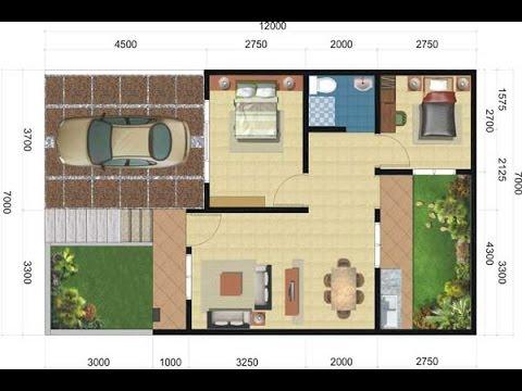 Denah Rumah Minimalis Type 36 1 lantai, Denah Rumah ...