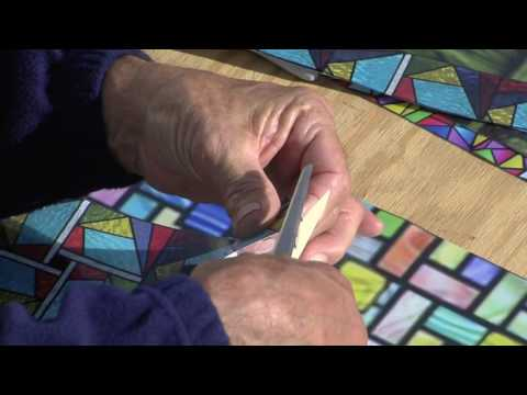 Faux Stained Glass Window Applique
