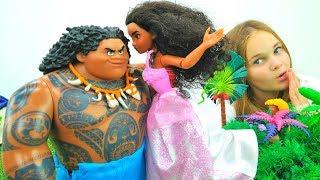 Моана и Мауи - Мультики для детей про игрушки и одевалки