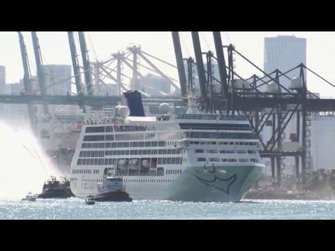 Primer crucero en medio siglo de EEUU a Cuba