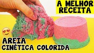 Como fazer AREIA CINÉTICA COLORIDA CASEIRA  COLOR KINETIC SAND  TIO LUCAS