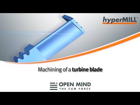 5Axis Machining: Turbine Blade I hyperMILL I GROB