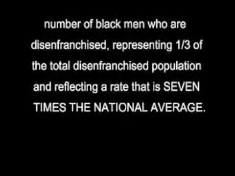 Disenfranchisement of the Black Man