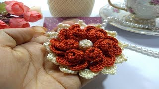 Como Fazer Uma Linda Flor De Crochê