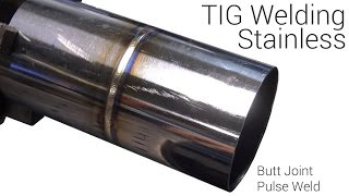 how to tig weld thin stainless tubing without filler rod butt joint pulse welding