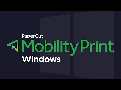 Mobility Print: Set Up Printing for Windows