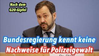 Polizeigewalt beim G20-Gipfel? Bundesregierung kennt keine Nachweise dafür