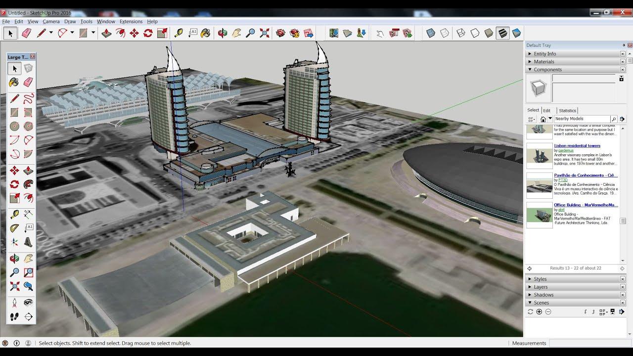 modelador 3d de edificios google earth