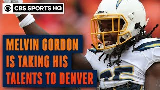 Melvin Gordon signing with the Denver Broncos after five seasons with Chargers | CBS Sports HQ