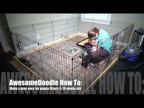 How To Make A Play Pen Area For A Litter Of Puppies DIY